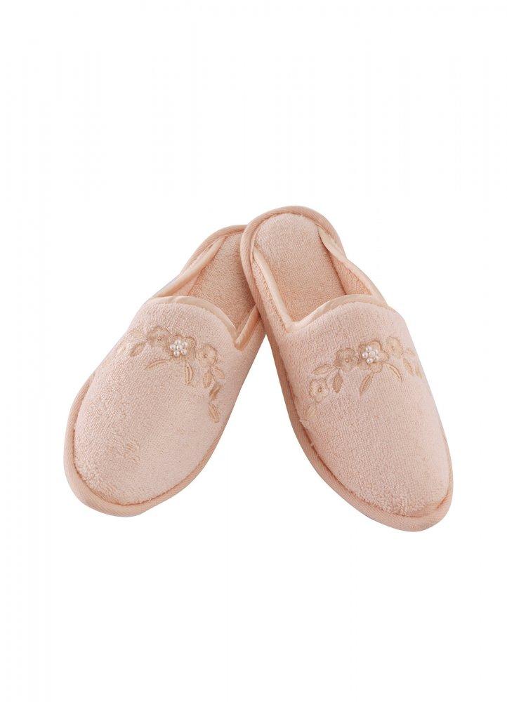 Soft Cotton Dámské bambusové pantofle MASAL. Froté dámské bambusové pantofle MASAL s výšivkou zdobenou perličkami, ve velikostech 26cm a 28cm. 28 cm (vel. 38/40) Lososová