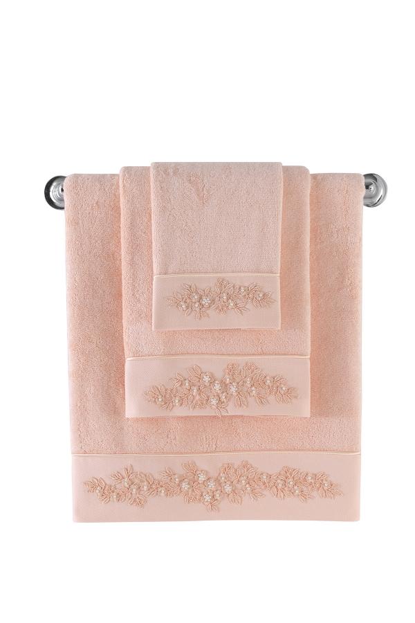 Soft Cotton Dárková sada bambusových ručníků a osušek MASAL. Atraktivní, velice savé a jemné ručníky a osušky MASAL. Lososová