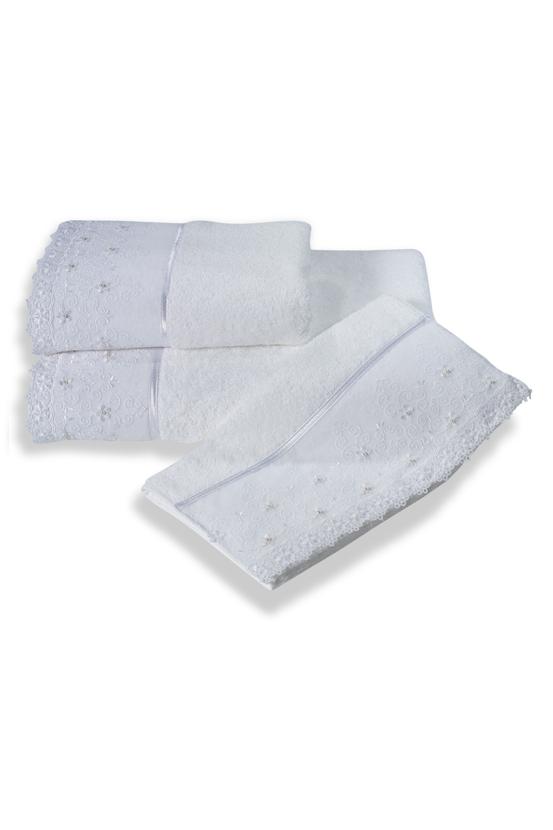 Soft Cotton Ručník SELEN 50x100 cm. Luxusní froté ručníky SELEN 50x100 cm s romantickou krajkou, ze 100% česané bavlny, pro ženy s citlivou pokožkou. Bílá