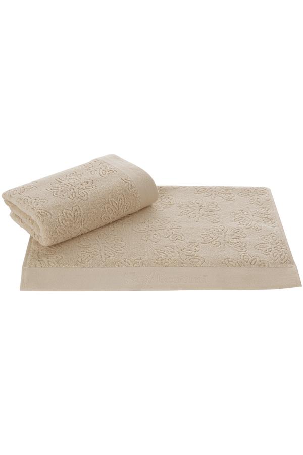 Soft Cotton Osuška LEAF 85 x 150 cm. 100% česaná bavlna s antibakteriální úpravou bude konejšit vaše tělo. Gramáž froté osušky LEAF je 500 g/m² a rozměry 85 x 150 cm. Béžová