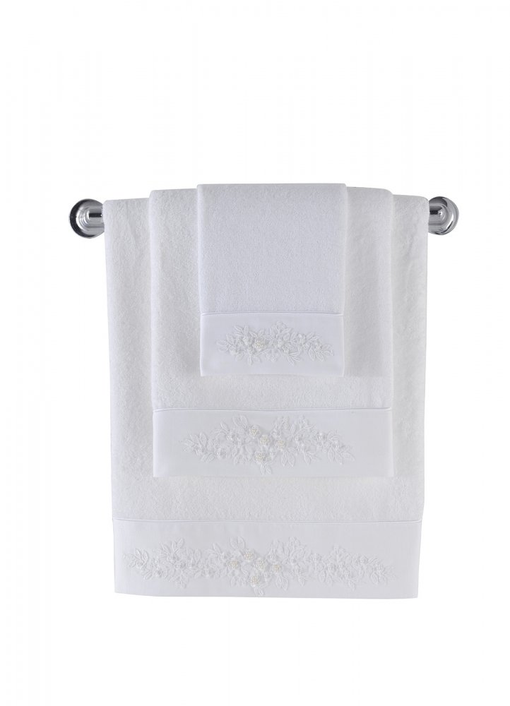 Soft Cotton Dárková sada bambusových ručníků a osušek MASAL. Atraktivní, velice savé a jemné ručníky a osušky MASAL. Bílá