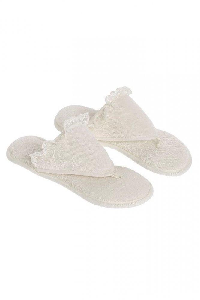 Soft Cotton Dámské pantofle LUNA. Dámské pantofle LUNA s gumovou podrážkou. Pantofle mají gumovou podrážku a vyrábí se ve dvou velikostech. 26 cm (vel.36/38) Smetanová