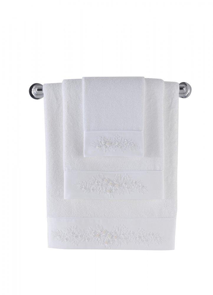 Soft Cotton Malý bambusový ručník MASAL 32x50cm. Bambusový malý ručník MASAL 32 x 50 cm, vyrobený z bambusového vlákna 60% a česané bavlna 40%, přirozeně aktibakteriální, vhodný pro alergiky. Bílá
