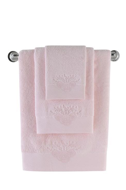 Soft Cotton Luxusní osuška MELIS 85x150cm. Neexistuje nic lepšího, než načechraná a teplá osuška po koupeli! Froté osušky MELIS s elegantní výšivkou. Růžová