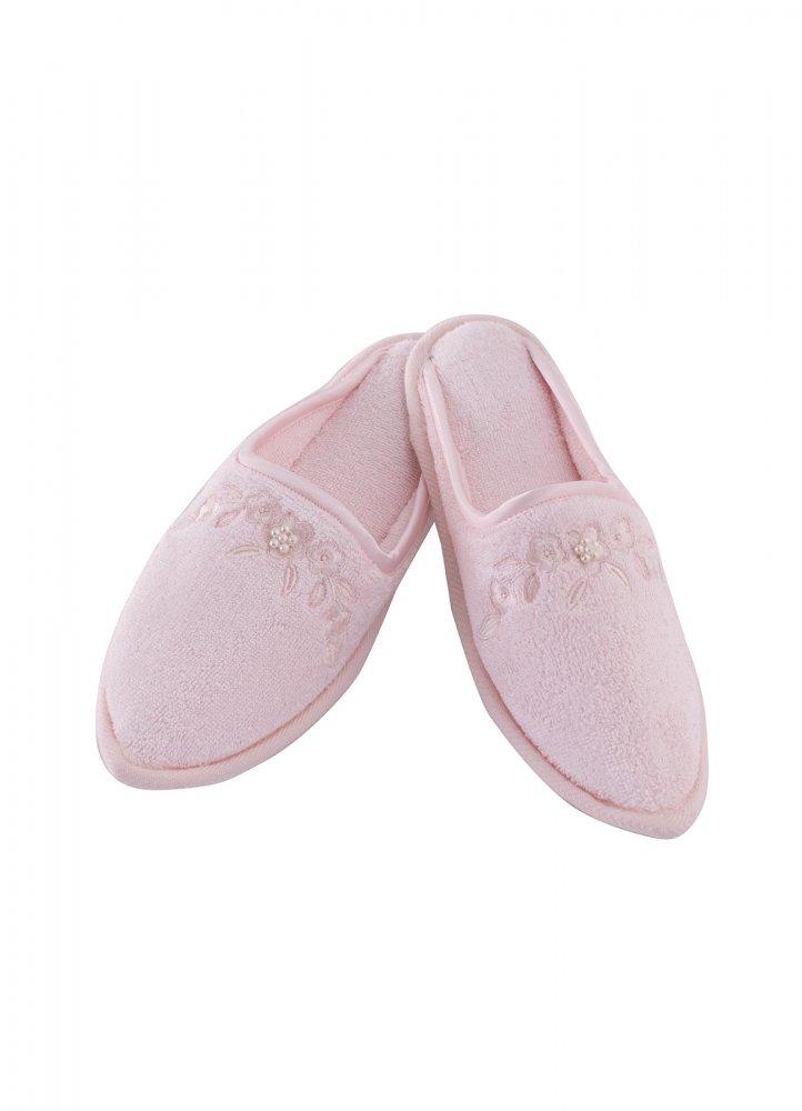Soft Cotton Dámské bambusové pantofle MASAL. Froté dámské bambusové pantofle MASAL s výšivkou zdobenou perličkami, ve velikostech 26cm a 28cm. 28 cm (vel. 38/40) Růžová