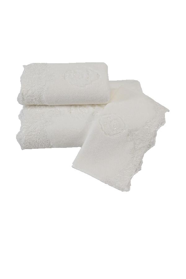Soft Cotton Luxusní ručník DIANA 50x100 cm. Měkká, komfortní 100% česaná bavlna, hebký, savý, příjemný na dotek. Smetanová
