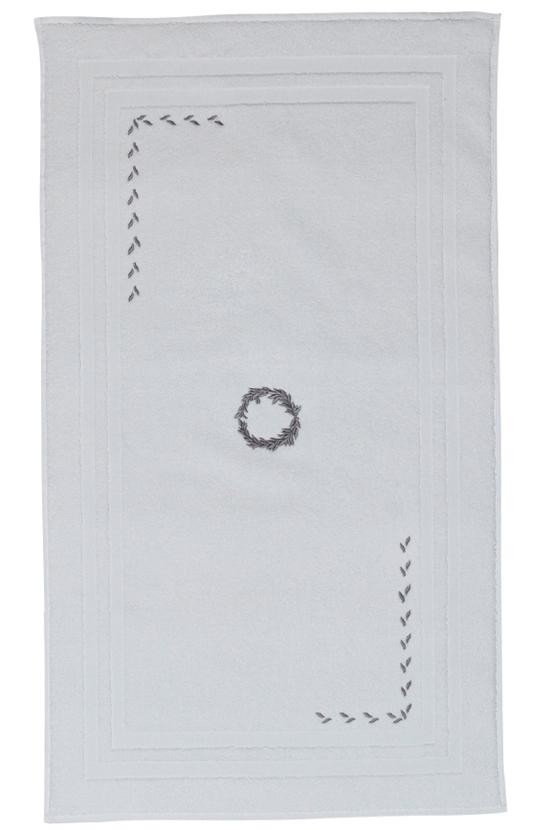 Soft Cotton Koupelnová předložka SEHZADE 50x90 cm. Luxusní froté koupelnové předložky SEHZADE 50x90 cm ze 100% česané bavlny je hebká, jemná, savá s originální výšivkou. Bílá / stříbrná výšivka