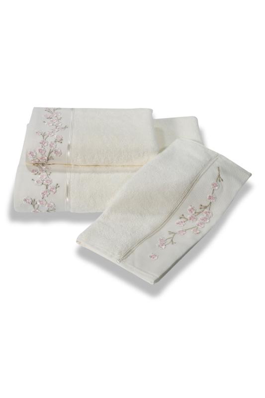 Soft Cotton Bambusový ručník RUYA 50x100cm. Tyto ručníky mají až 4x větší savost než bavlna, jsou velice jemné, savé a rychleschnoucí. Smetanová