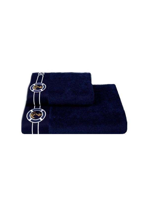 Soft Cotton Froté ručník MARINE 50x100 cm ze 100% bavny v námořnickém designu. Velice kvalitní a savý ručník s vysokou gramáží. Tmavě modrá
