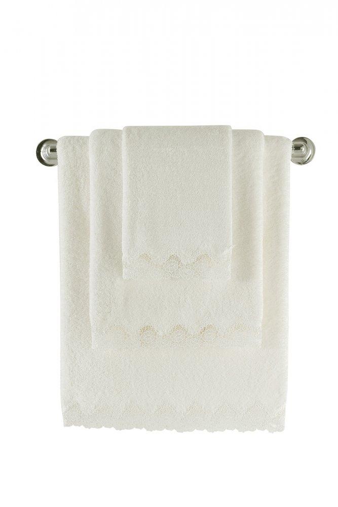 Soft Cotton Dárková sada ručníků a osušek ANGELIC. Atraktivní, velice savé a jemné ručníky a osušky ANGELIC. Smetanová