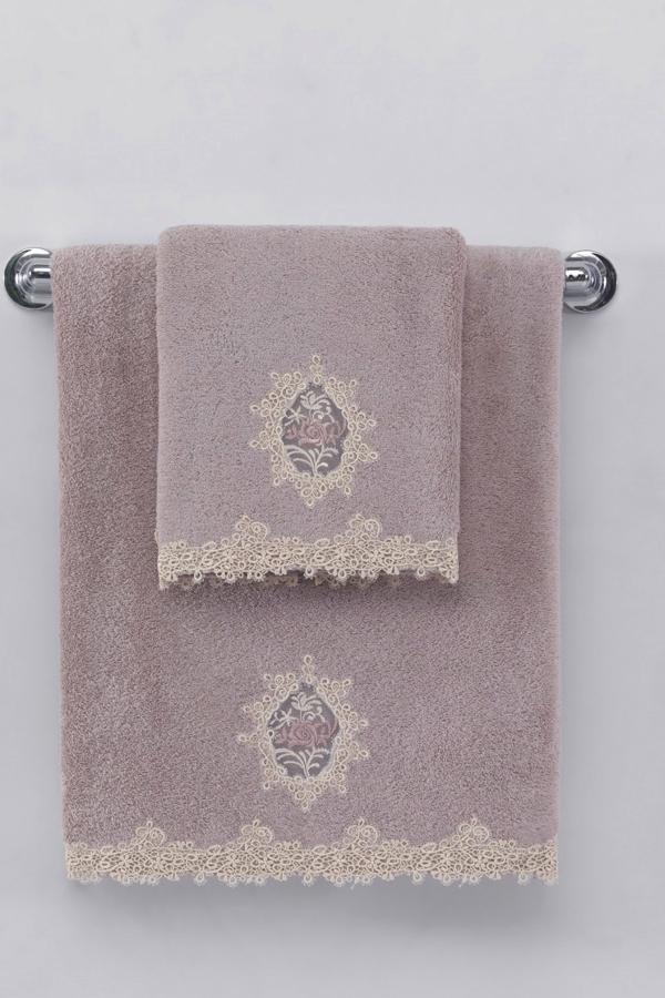 Malý ručník DESTAN 32x50cm Fialová / Lila