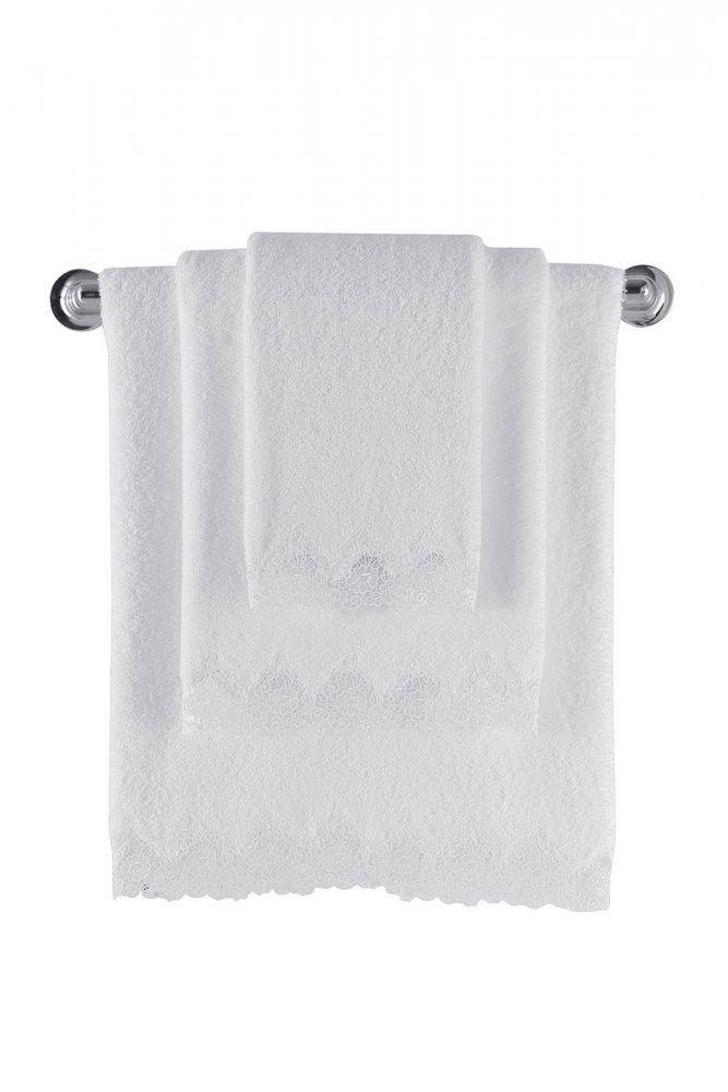 Soft Cotton Dárková sada ručníků a osušek ANGELIC. Atraktivní, velice savé a jemné ručníky a osušky ANGELIC. Bílá