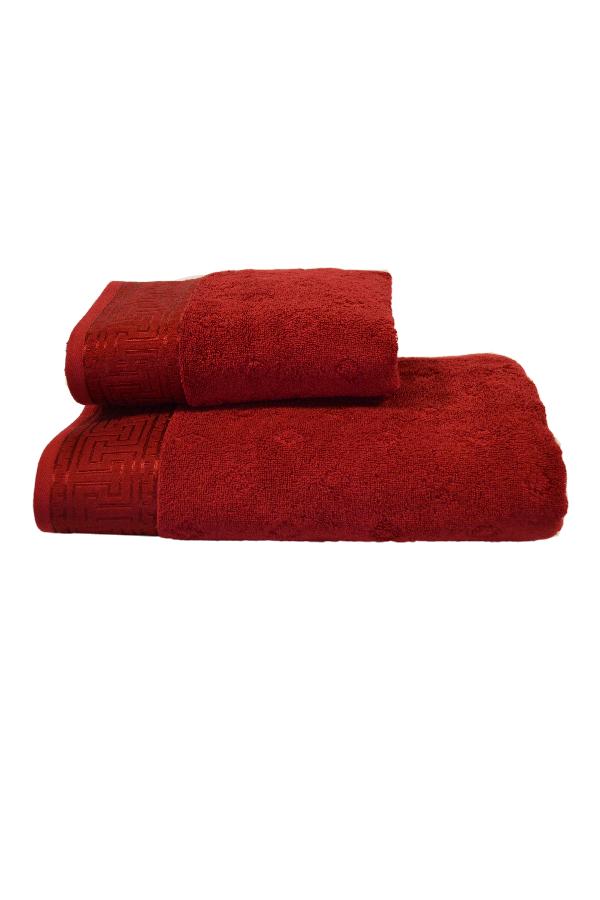 Soft Cotton Osuška VERA 75x150 cm. Měkké na pokožce a vysoce absorpční, to jsou vlastnosti osušek VERA z kolekce SOFT COTTON. Tmavě červená