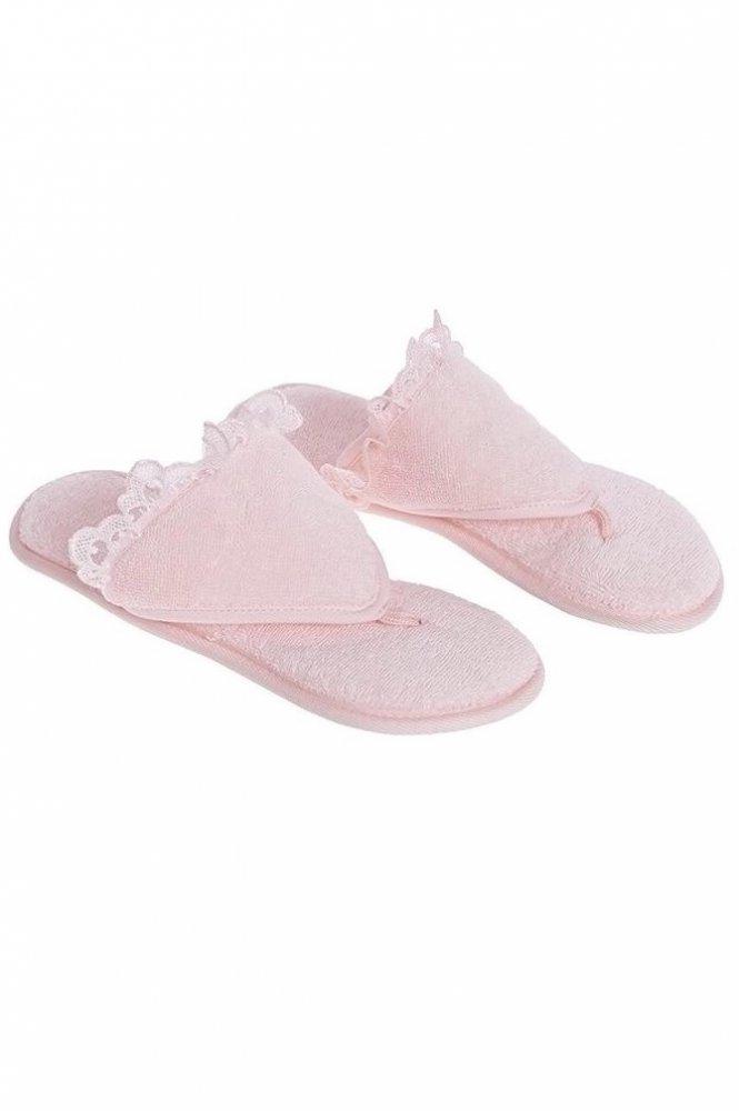 Soft Cotton Dámské pantofle LUNA. Dámské pantofle LUNA s gumovou podrážkou. Pantofle mají gumovou podrážku a vyrábí se ve dvou velikostech. 26 cm (vel.36/38) Růžová