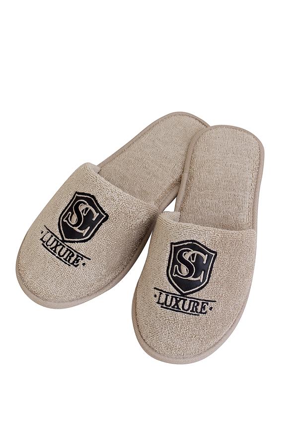 Soft Cotton Pánské pantofle LUXURY. Froté pantofle LUXURY, s gumovou podrážkou jsou vhodné zejména, jako doplněk k pánským županů LUXURY. 28 cm (vel.40/42) Béžová