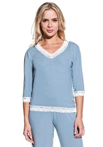Dámské bambusové pyžamo ROZALIE S Modrošedá