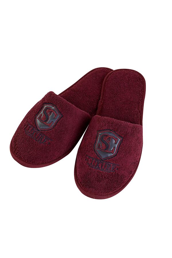 Soft Cotton Pánské pantofle LUXURY. Froté pantofle LUXURY, s gumovou podrážkou jsou vhodné zejména, jako doplněk k pánským županů LUXURY. 28 cm (vel.40/42) Bordo