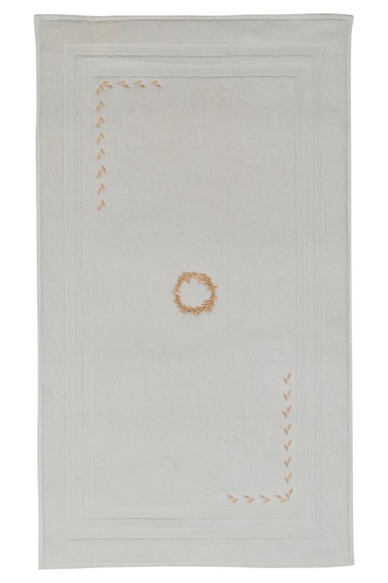Soft Cotton Koupelnová předložka SEHZADE 50x90 cm. Luxusní froté koupelnové předložky SEHZADE 50x90 cm ze 100% česané bavlny je hebká, jemná, savá s originální výšivkou. Smetanová / zlatá výšivka