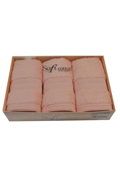 Soft Cotton Dárková sada malých ručníků DELUXE. Dárkový set malých ručníků DELUXE 32x50 cm z modalového vlákna. Pojmou až 5x tolik vody, než váží v suchém stavu! Růžová